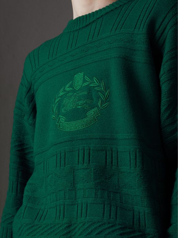 Reissued Wool Sweater in Dark Green - Men | Burberry United Kingdom - cell image 1