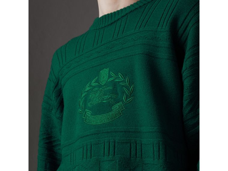 Reissued Wool Sweater in Dark Green - Men | Burberry - cell image 1