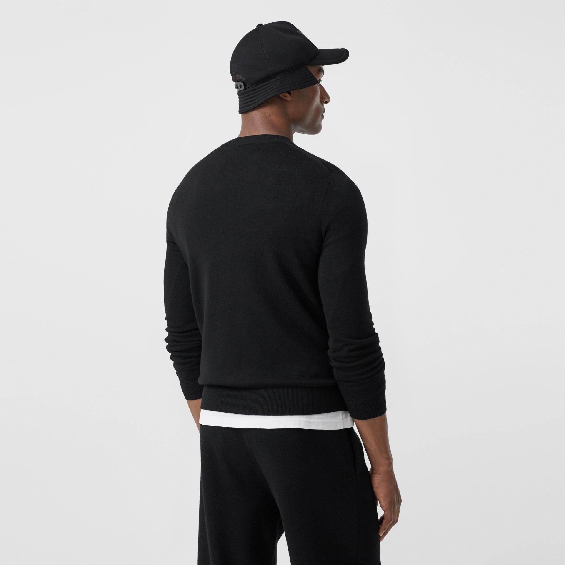 Rigging Intarsia Merino Wool Sweater in Black - Men | Burberry - gallery image 2