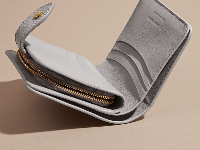 Pale grey Patent London Leather Wallet - cell image 4