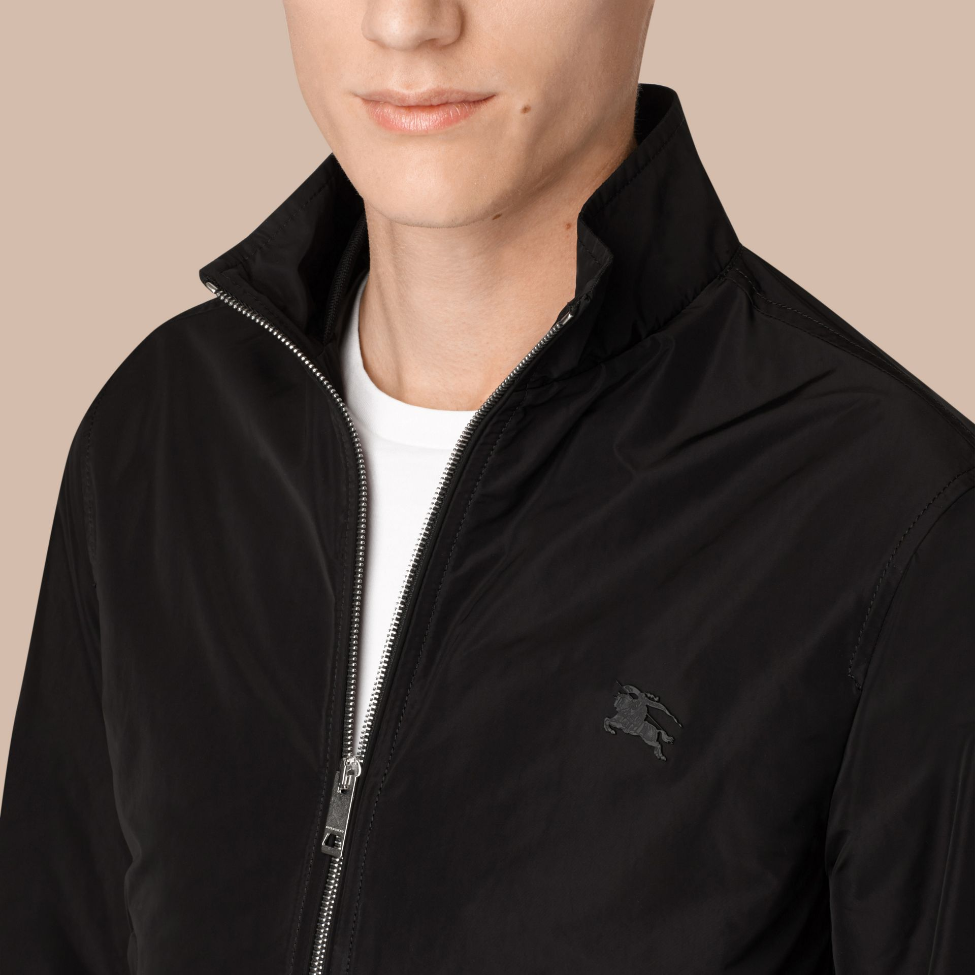 Lightweight Technical Jacket in Black - gallery image 4