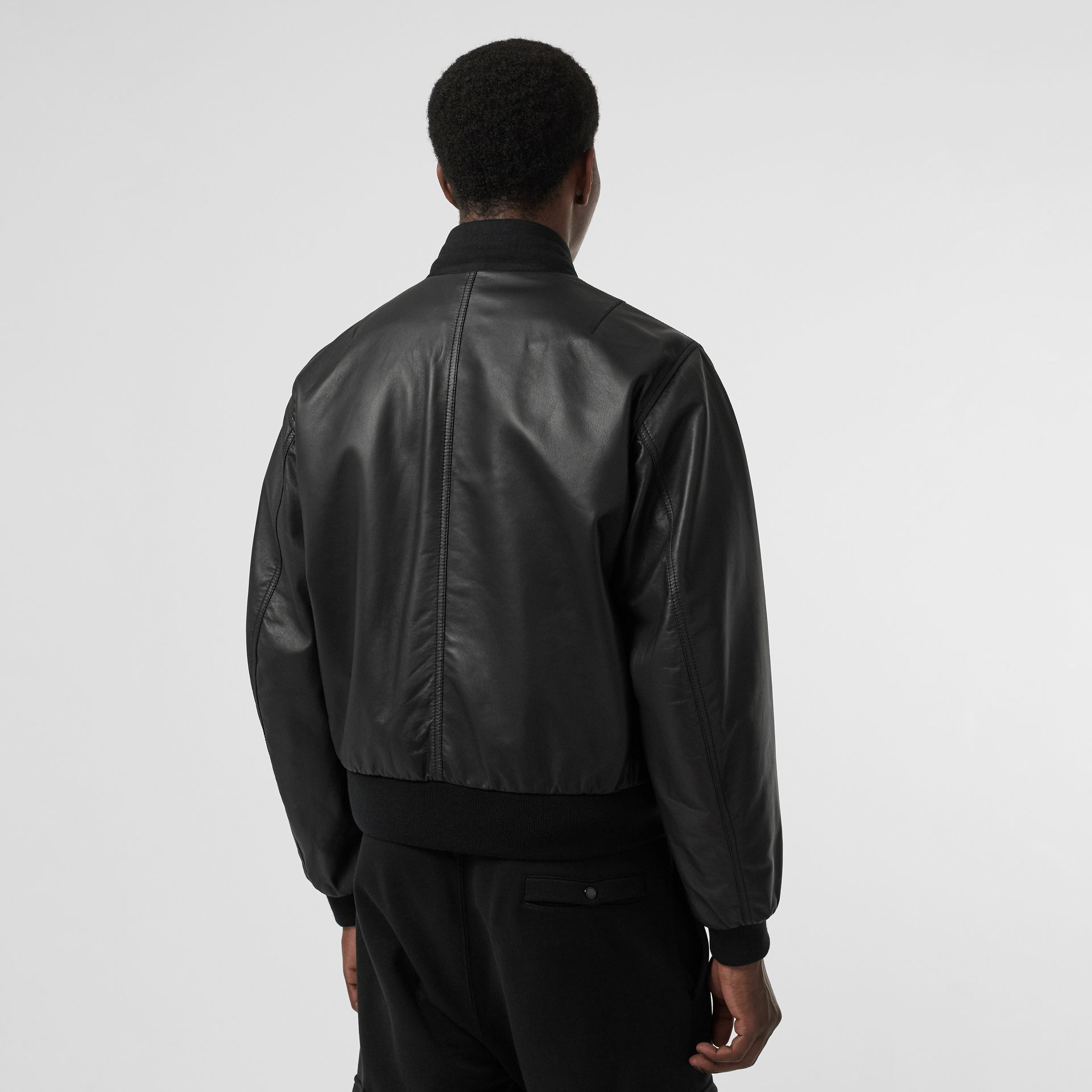 Lambskin Bomber Jacket in Black - Men | Burberry United States - gallery image 2