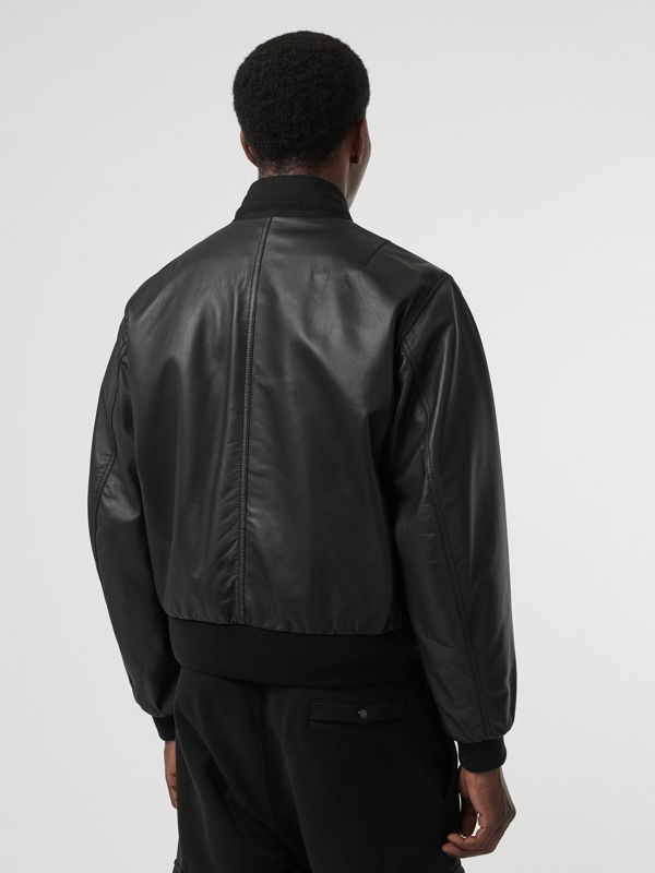 Lambskin Bomber Jacket in Black - Men | Burberry United States - cell image 2
