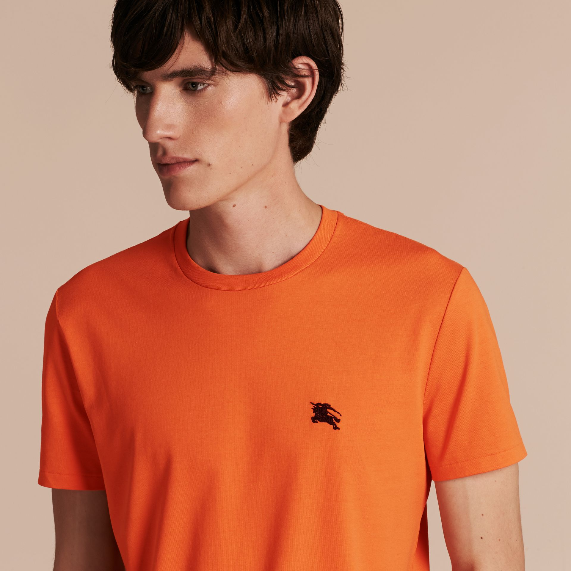 Liquid-soft Cotton T-Shirt Clementine - gallery image 5
