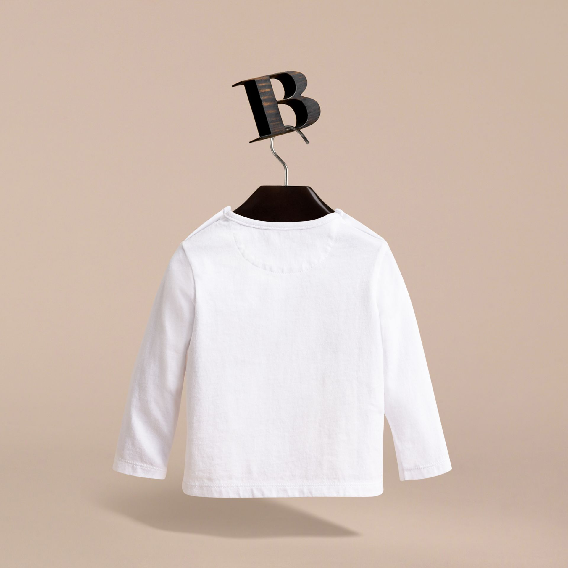 Thomas Bear Guardsman Print Cotton Top in White - Children | Burberry - gallery image 3