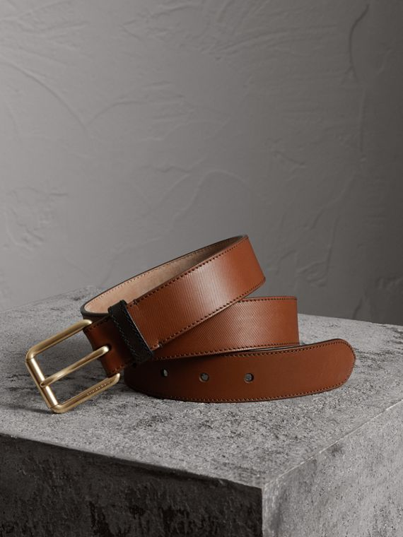 Cintura in pelle Trench bicolore (Marroncino)