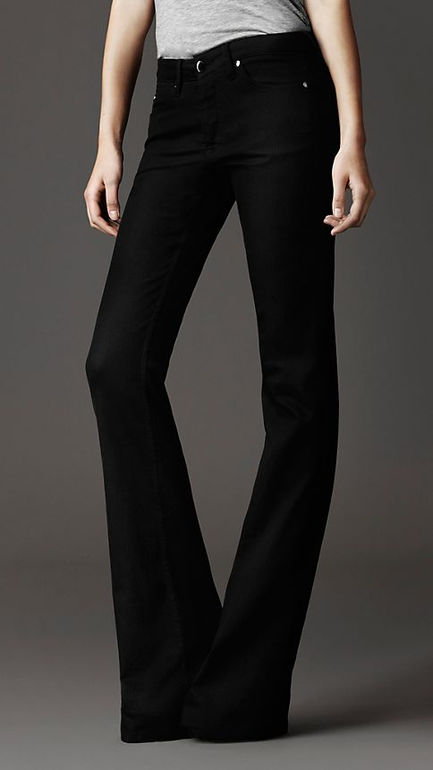 Black Harwood Black Flared Jeans - Image 1