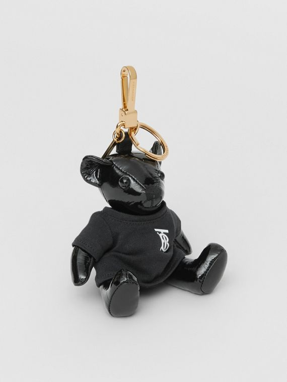 Adorno do Thomas Bear com camiseta com monograma (Preto)