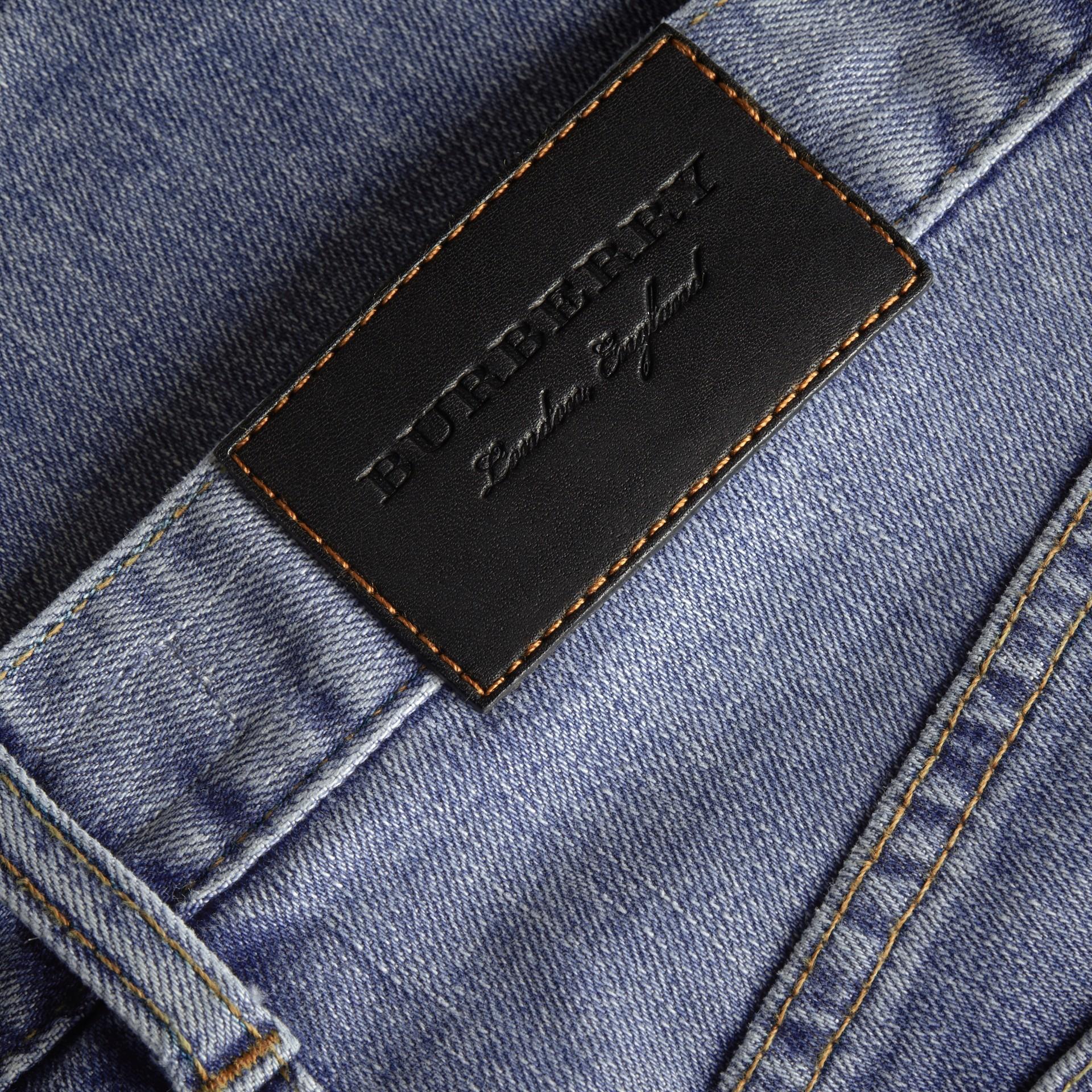 Slim Fit Seam Detail Japanese Denim Jeans - gallery image 2