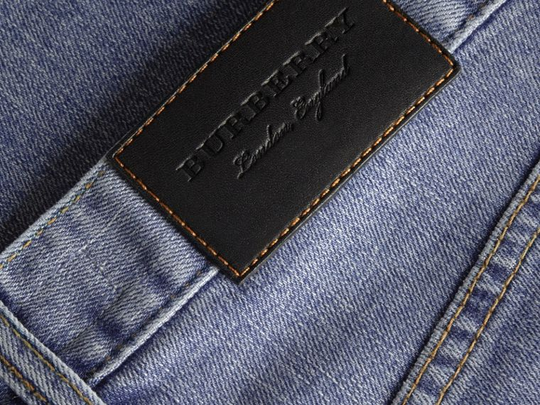 Slim Fit Seam Detail Japanese Denim Jeans - cell image 1