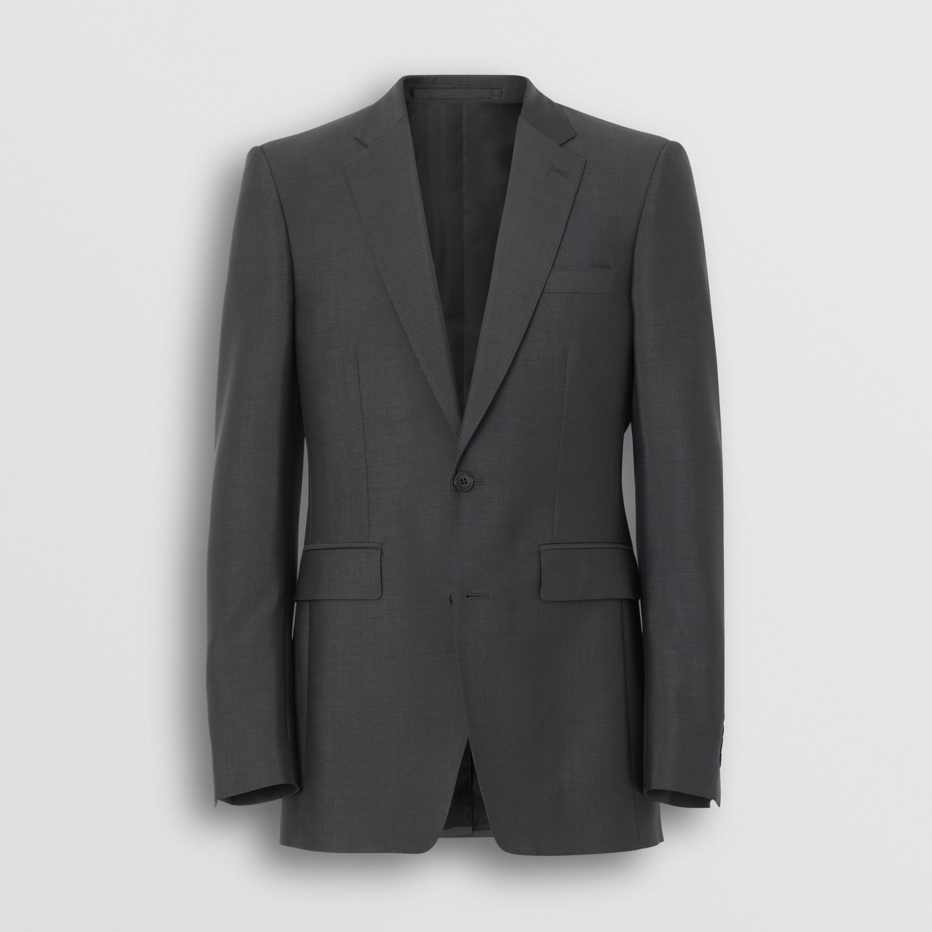 Classic Fit Wool Mohair Suit in Dark Grey - Men | Burberry - gallery image 3