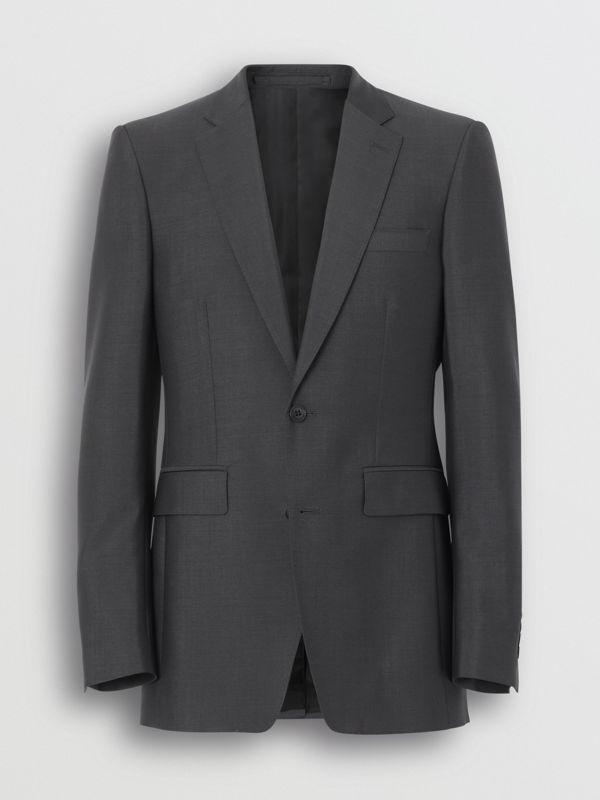 Classic Fit Wool Mohair Suit in Dark Grey - Men | Burberry - cell image 3