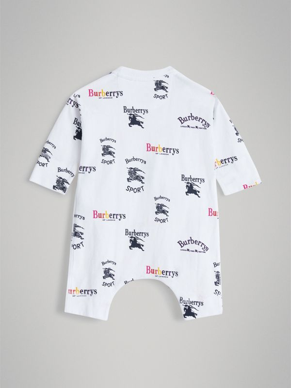 Archive Logo Two-piece Baby Gift Set in White - Children | Burberry Singapore - cell image 3
