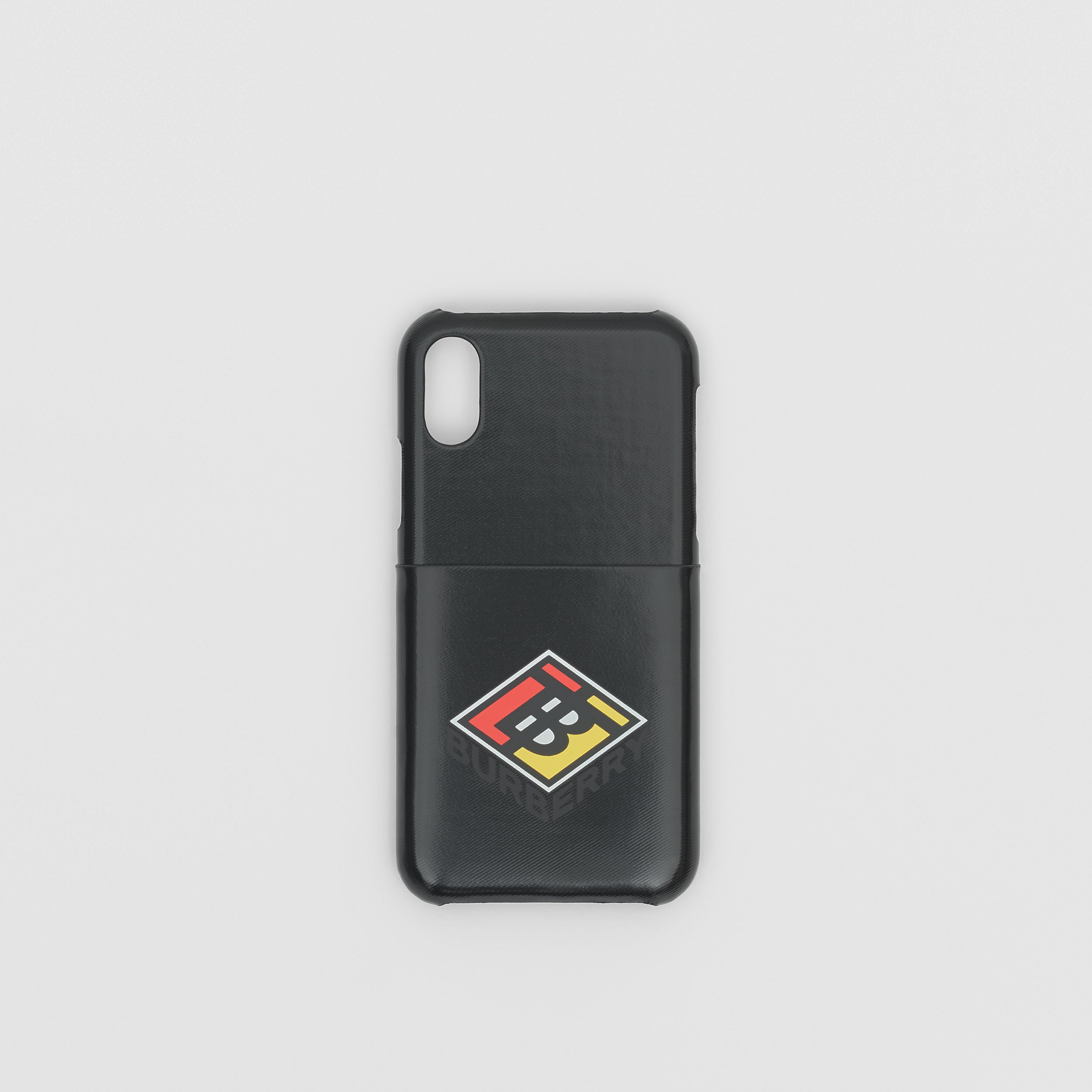 Logo Graphic Canvas iPhone X/XS Case in Black | Burberry - 1