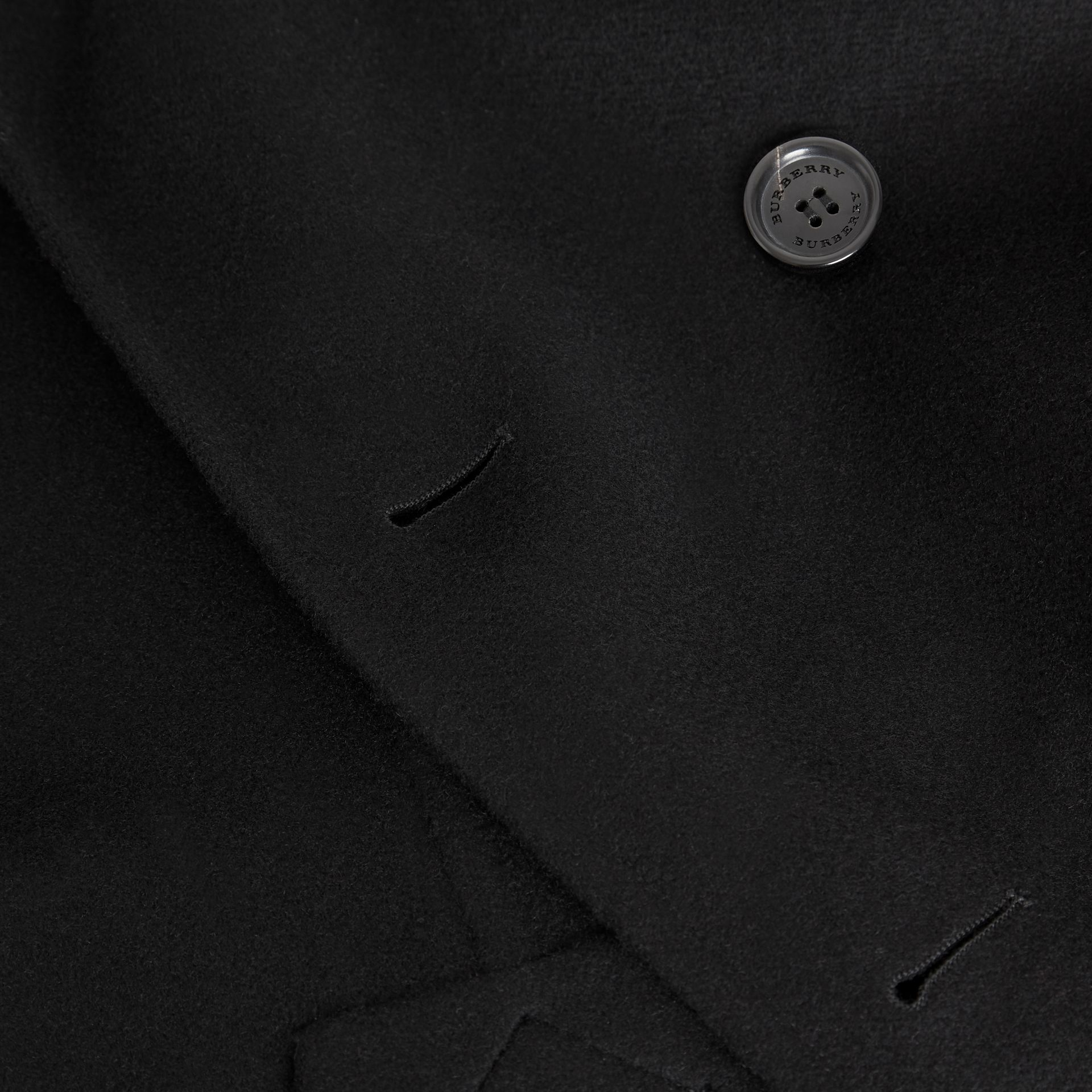 Double-faced Cashmere Trench Coat in Black - Men | Burberry Canada - gallery image 7