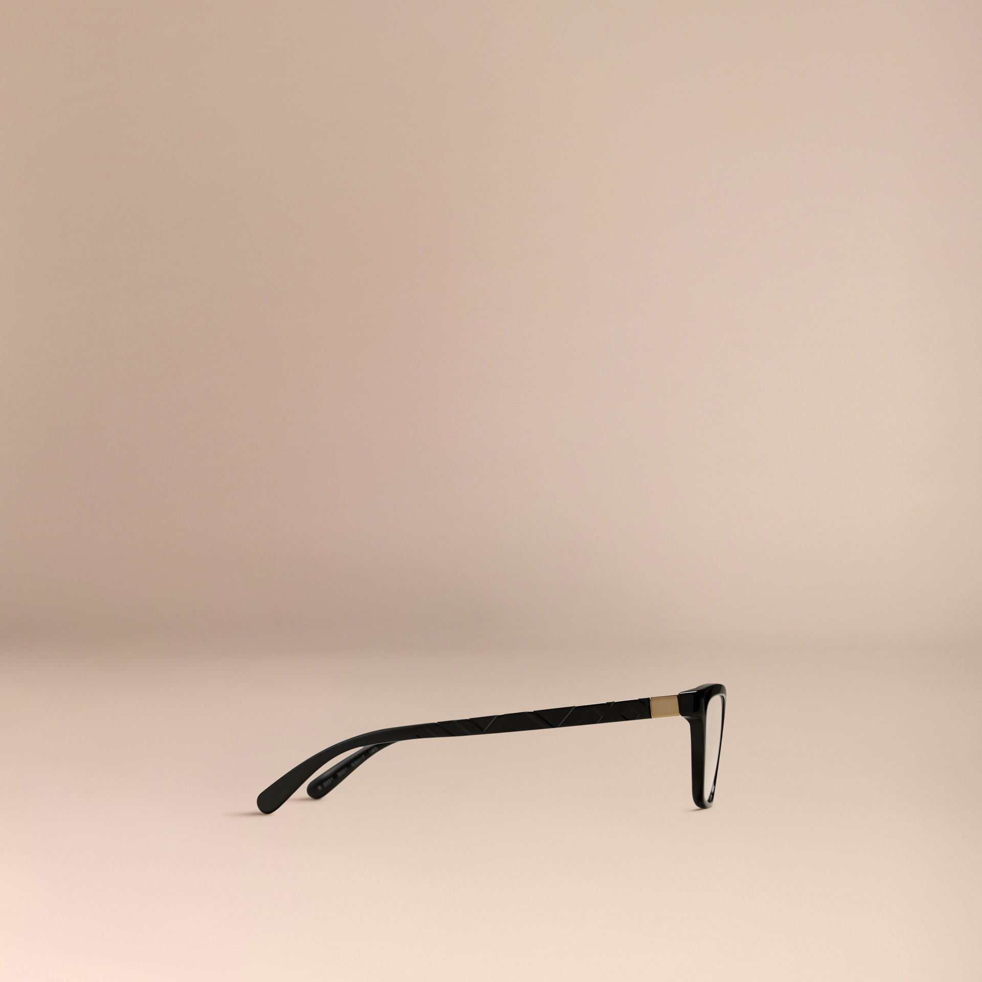 Black Check Detail Cat-eye Optical Frames Black - gallery image 5