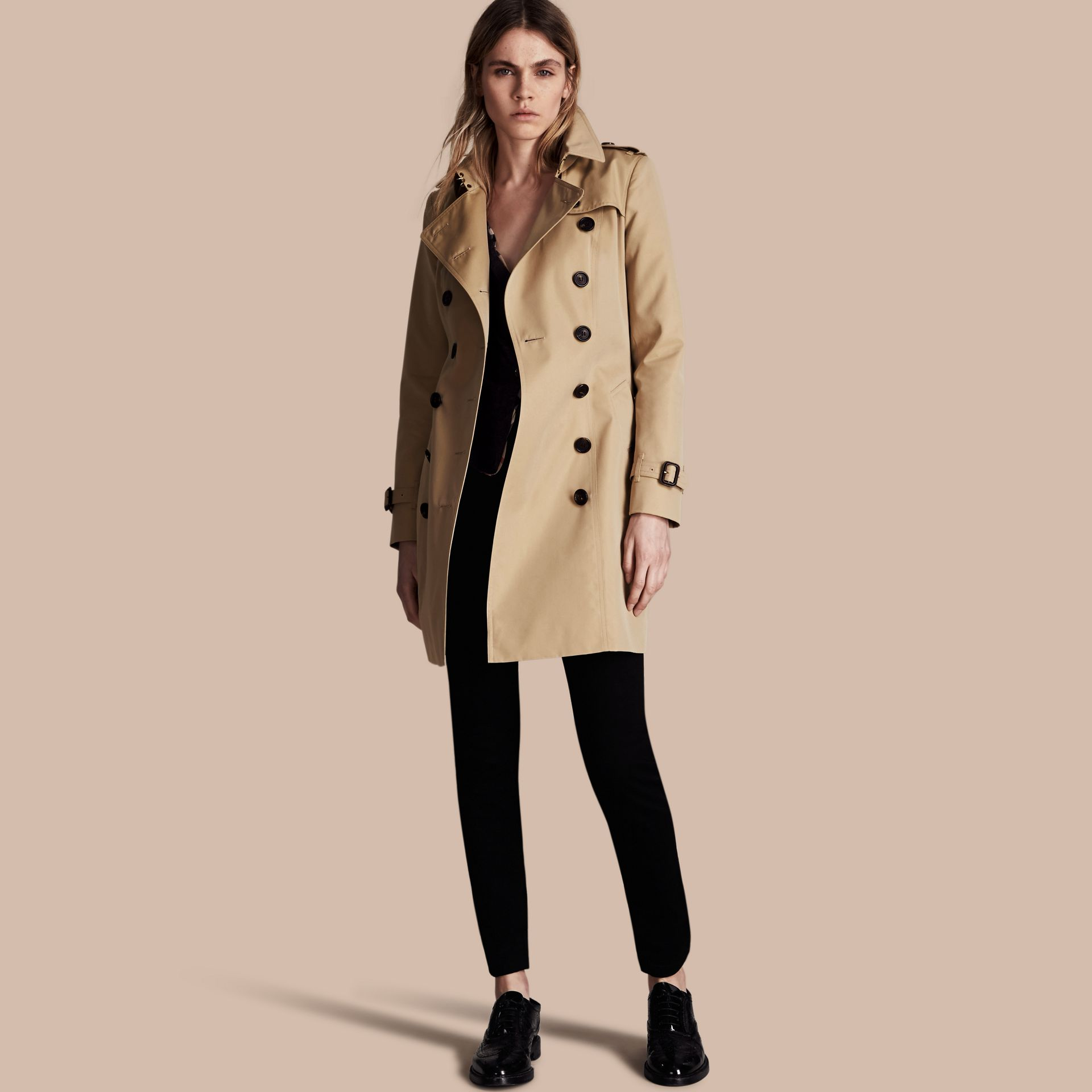 Honey The Chelsea – Mid-length Heritage Trench Coat Honey - gallery image 1