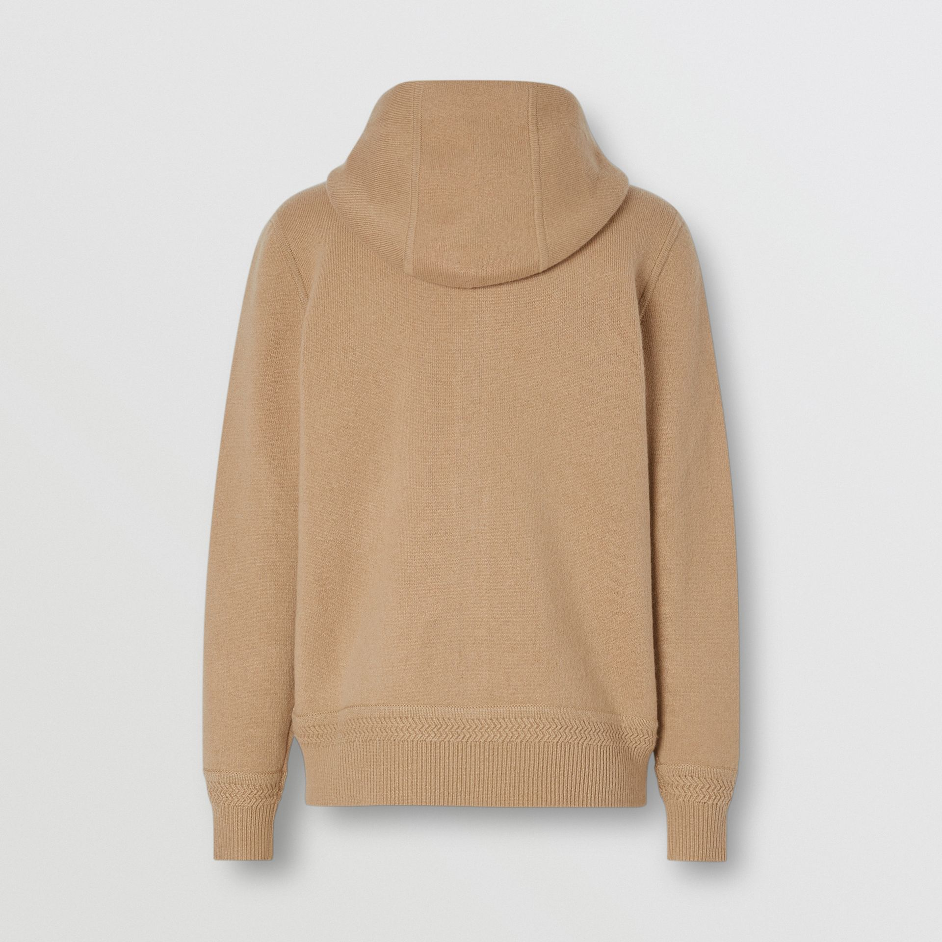 Embroidered Logo Cashmere Hooded Top in Archive Beige - Women | Burberry - gallery image 5
