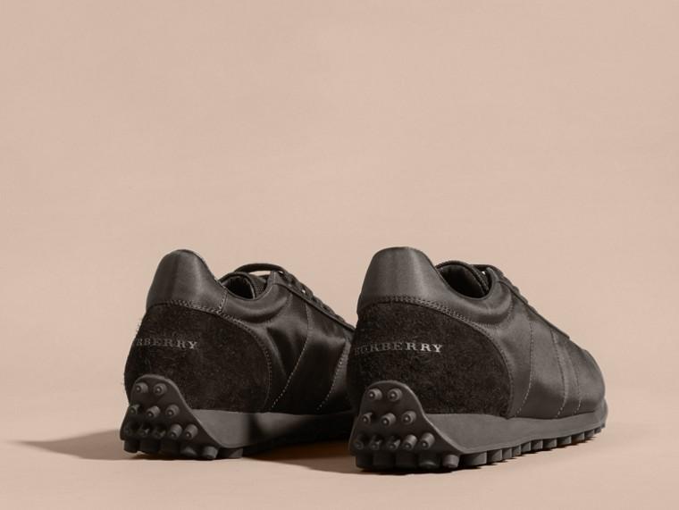 Nero Sneaker tecniche con finiture effetto texture Nero - cell image 4
