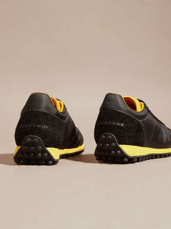 Black/burnt yellow Textural Trim Technical Sneakers Black/burnt Yellow - cell image 3