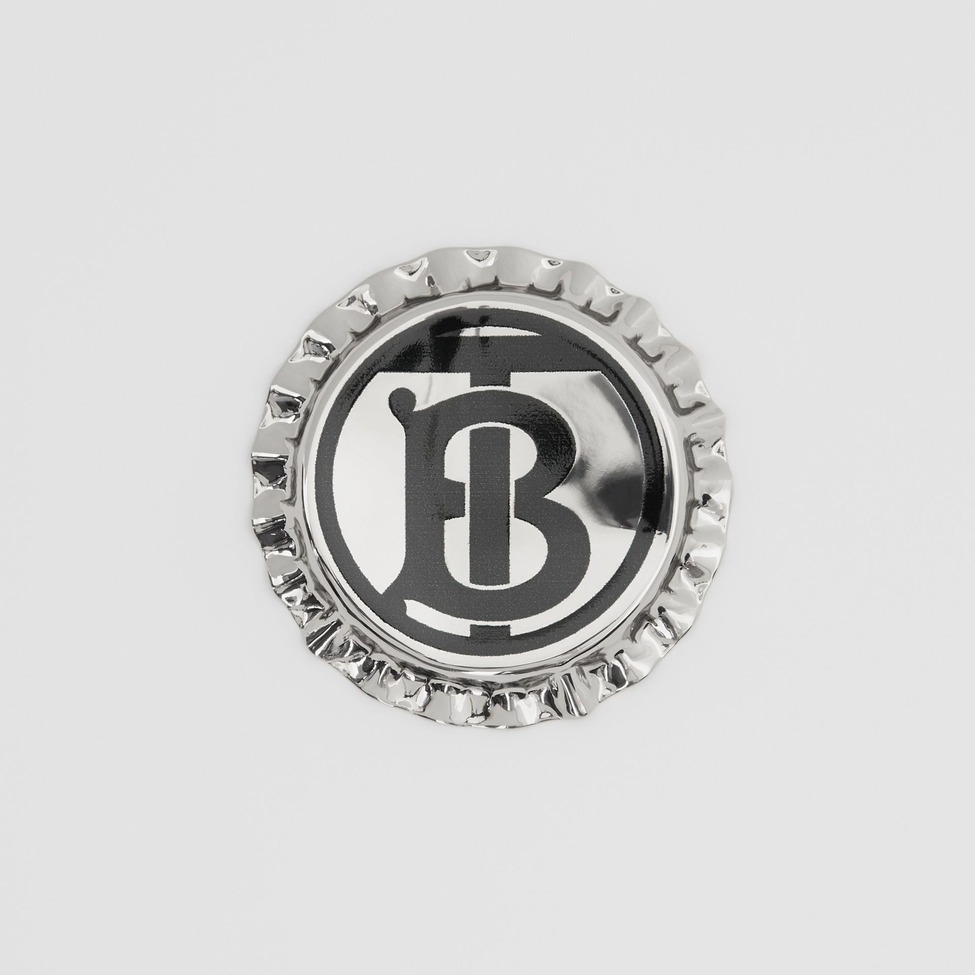 Palladium-plated Bottle Cap Brooch in Palladio | Burberry United States - gallery image 0