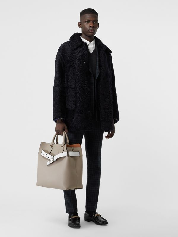 Grand sac The Belt en cuir (Gris Minéral) | Burberry Canada - cell image 3