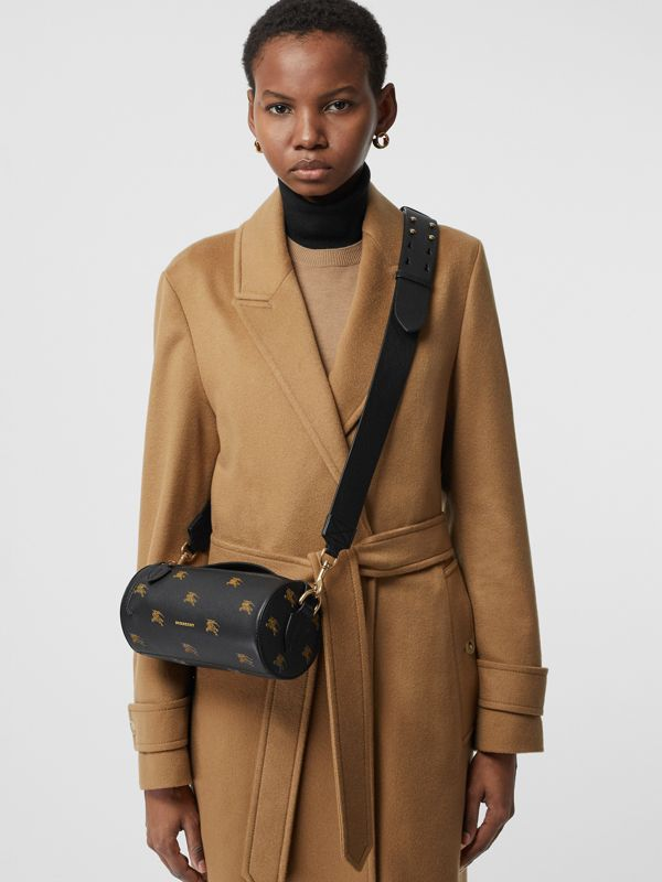 The Barrel Bag aus Leder mit Ritteremblem-Muster (Schwarz) - Damen | Burberry - cell image 3