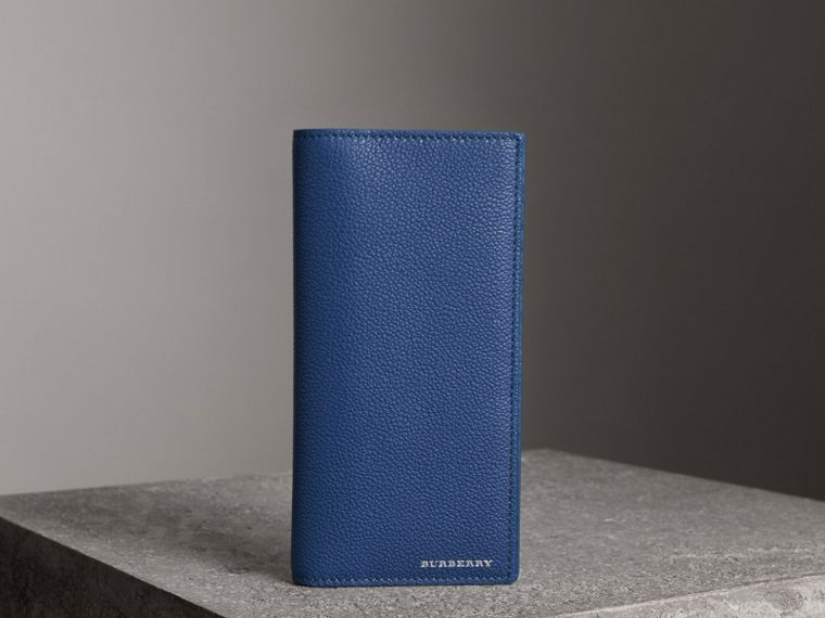 Grainy Leather Continental Wallet in Bright Ultramarine - Men | Burberry - cell image 4