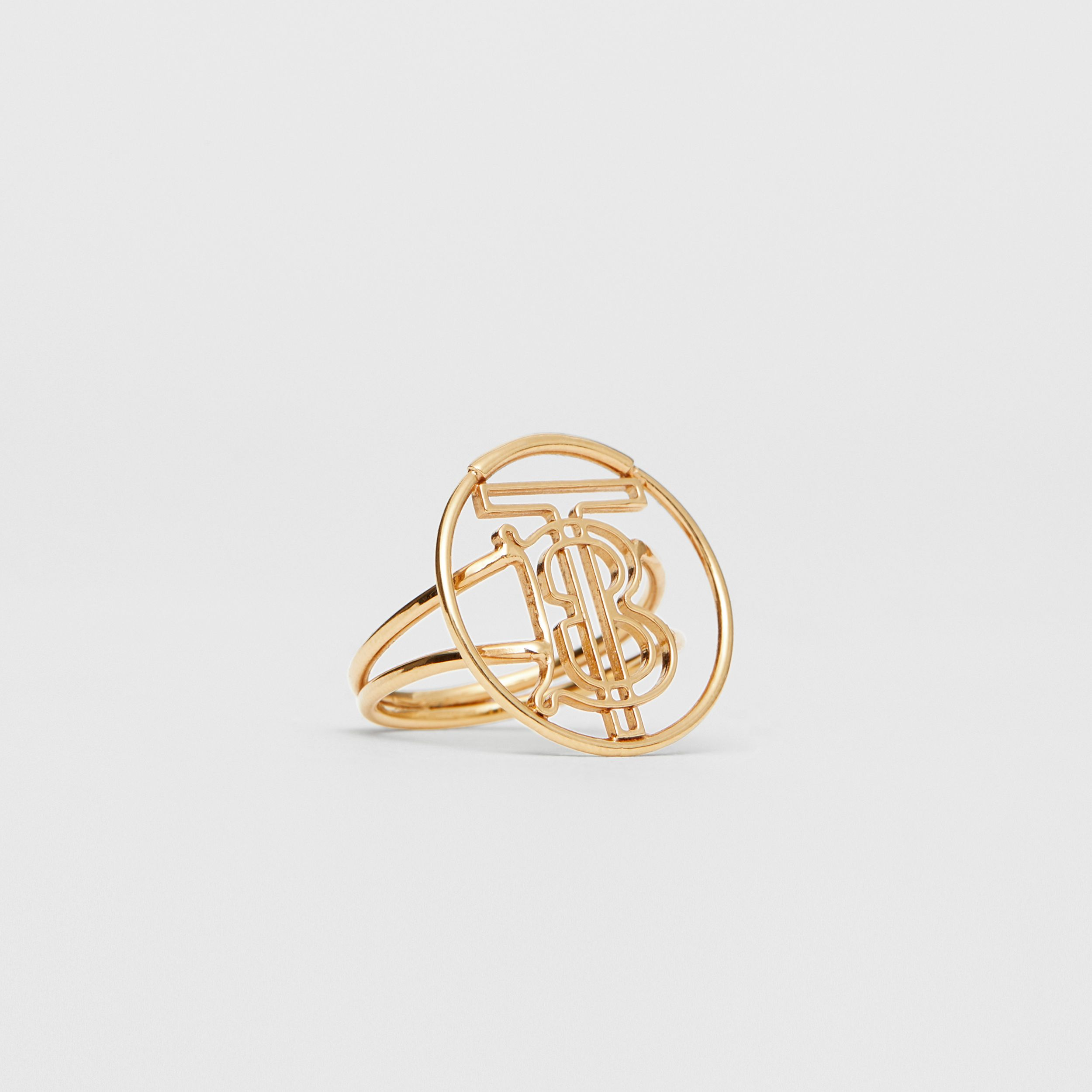 Gold-plated Monogram Motif Ring in Light - Women | Burberry - 4
