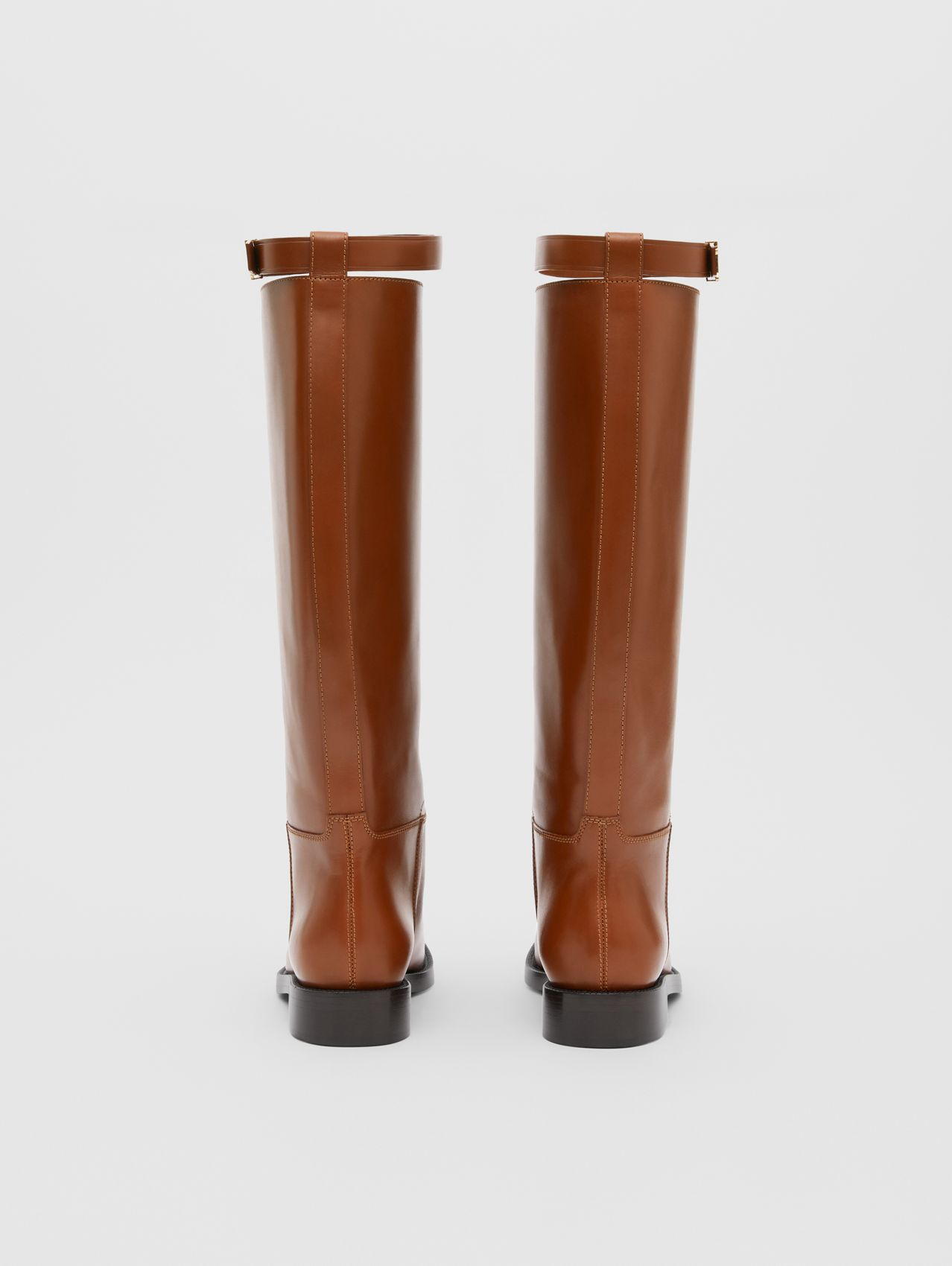 Monogram Motif Leather Knee-high Boots (Tan)