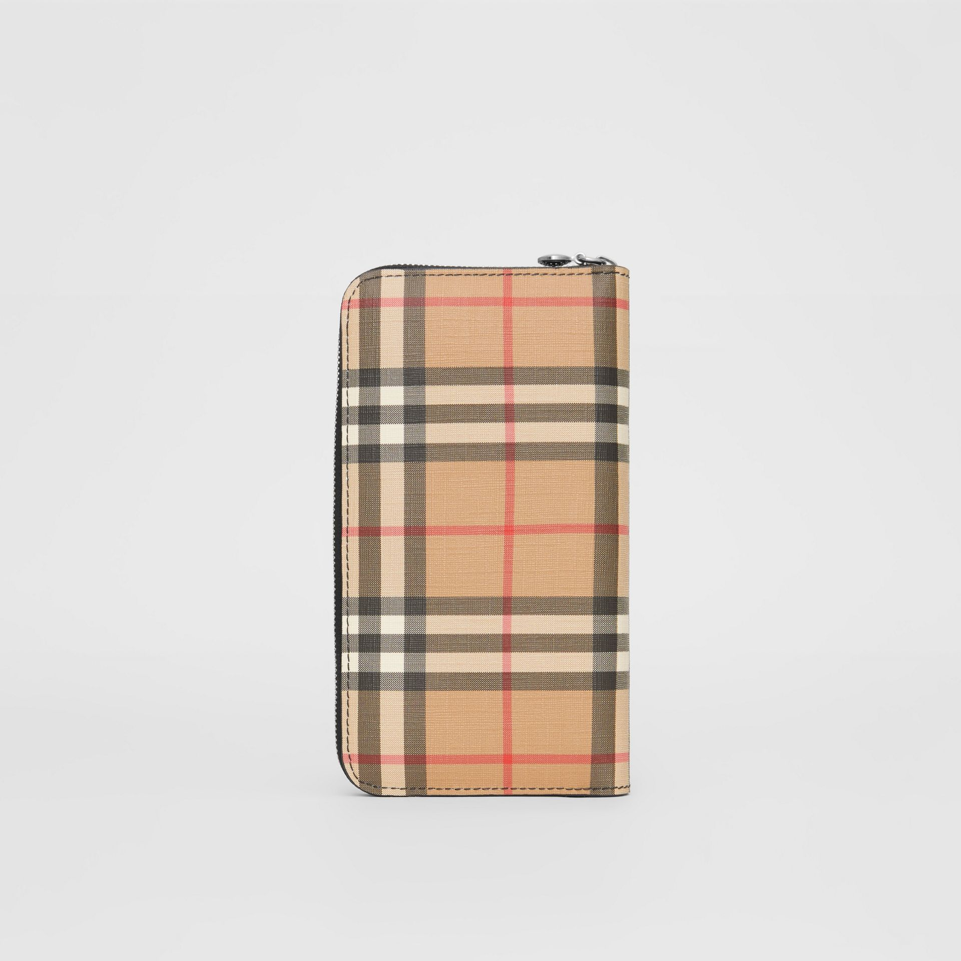 Vintage Check and Leather Ziparound Wallet in Black - Women | Burberry - gallery image 4