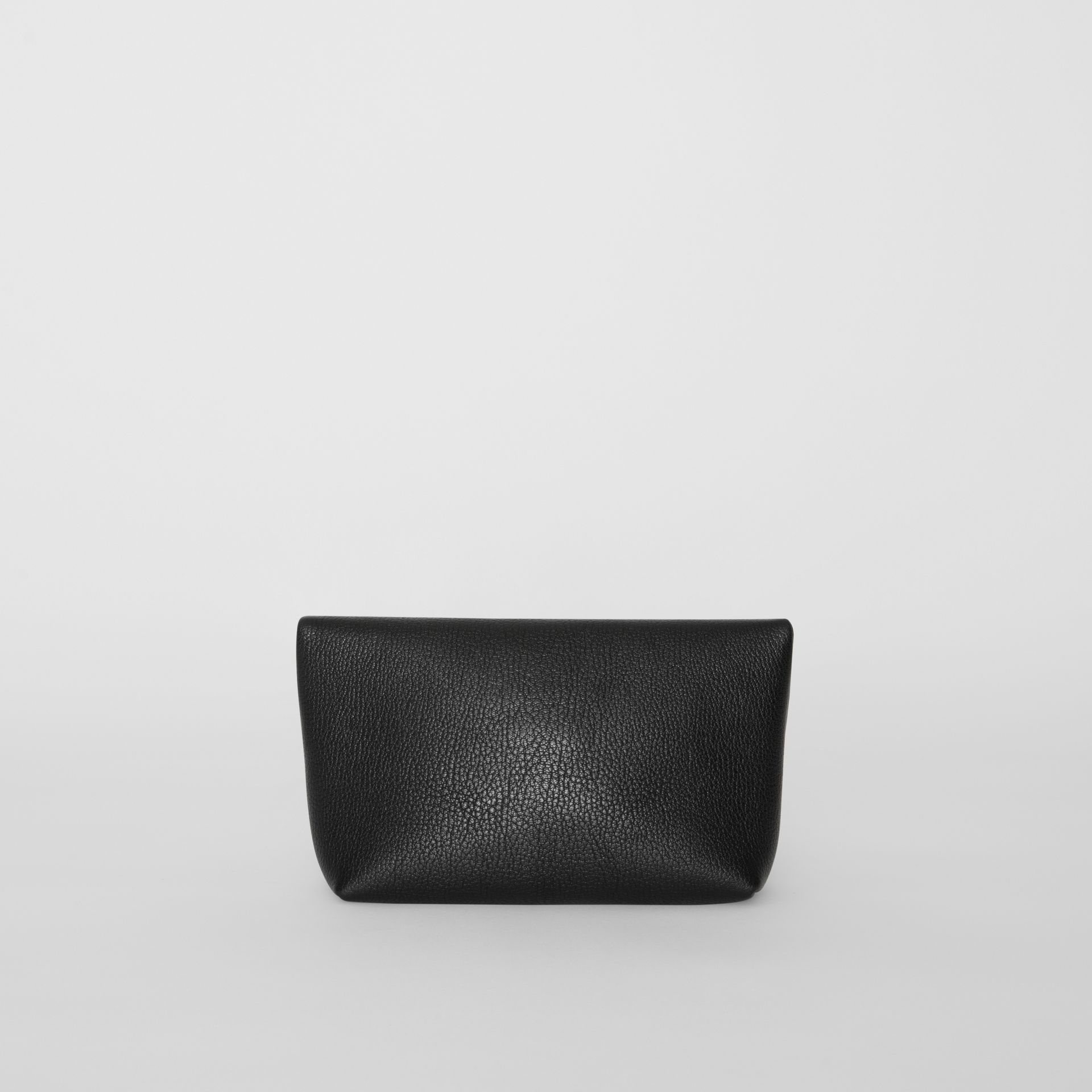 The Small Pin Clutch in Leather in Black - Women | Burberry - gallery image 7