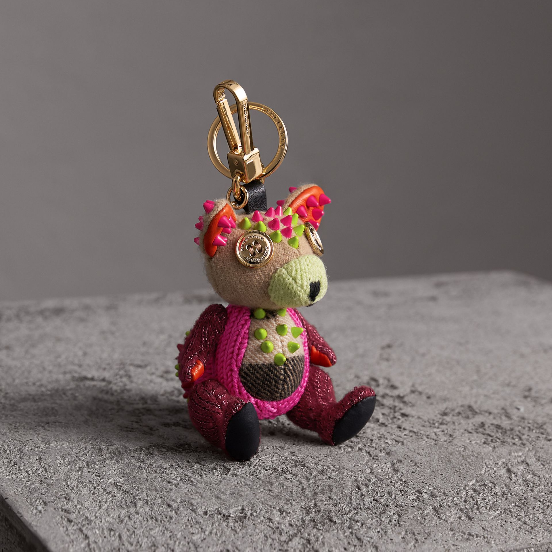 Dave The Fox Cashmere Charm in Pink | Burberry - gallery image 0