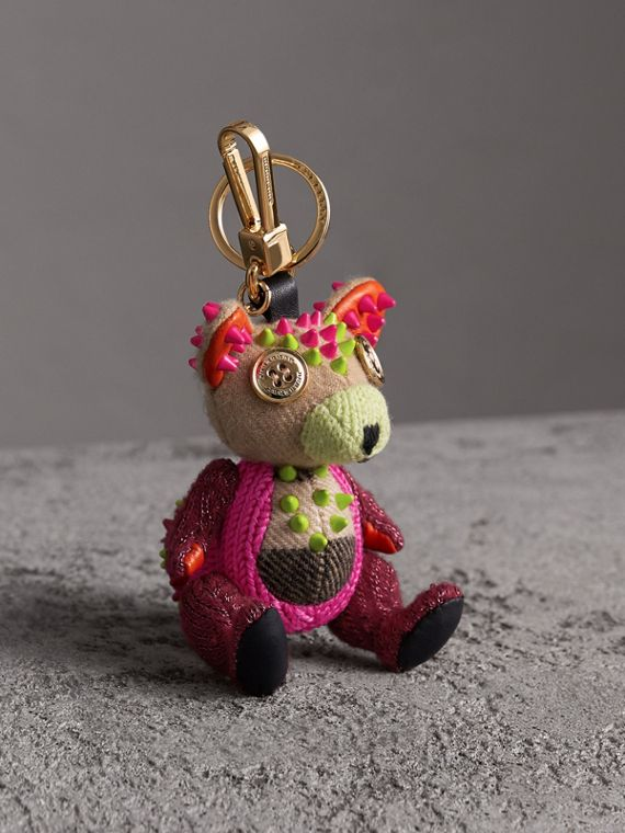 Dave The Fox Cashmere Charm in Pink