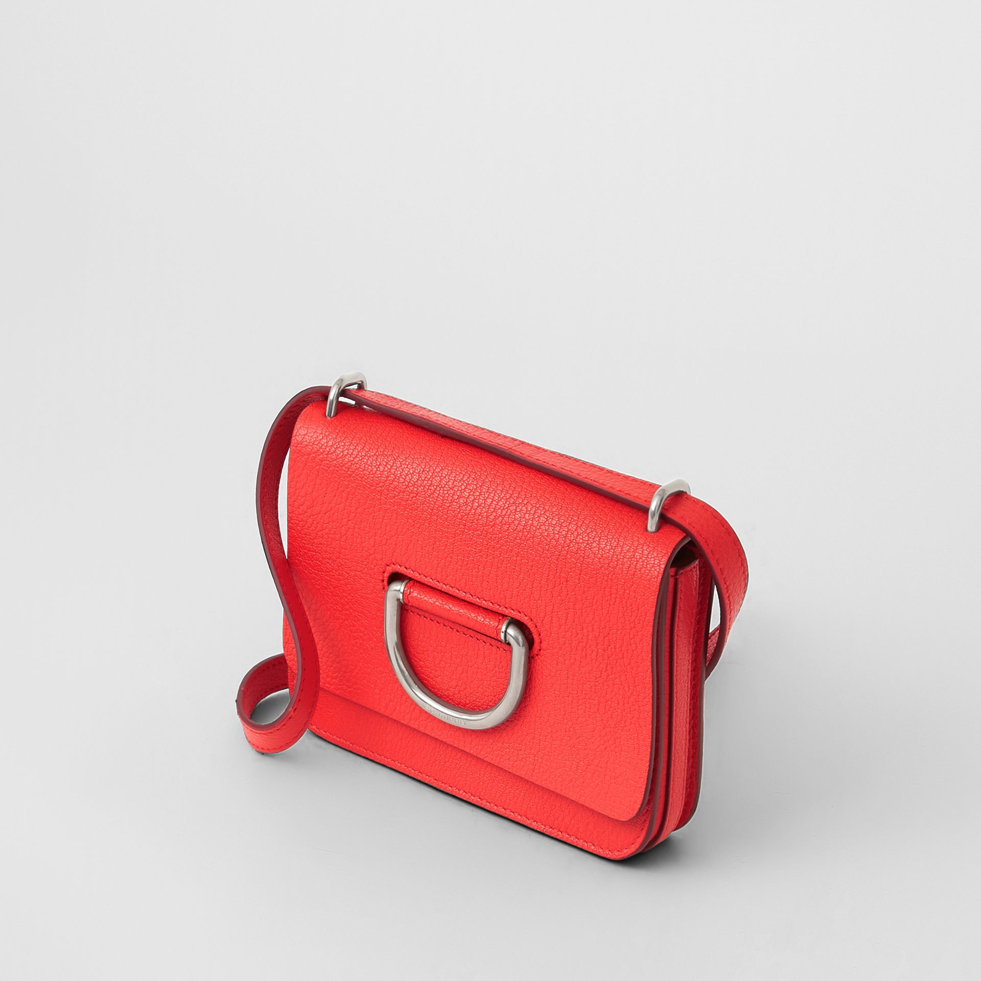 The Mini Leather D-ring Bag in Bright Red - Women | Burberry - gallery image 4