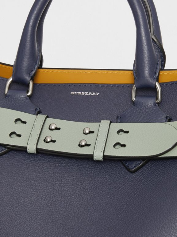 The Medium Belt Bag Grainy Leather Belt in Grey Blue - Women | Burberry - cell image 1