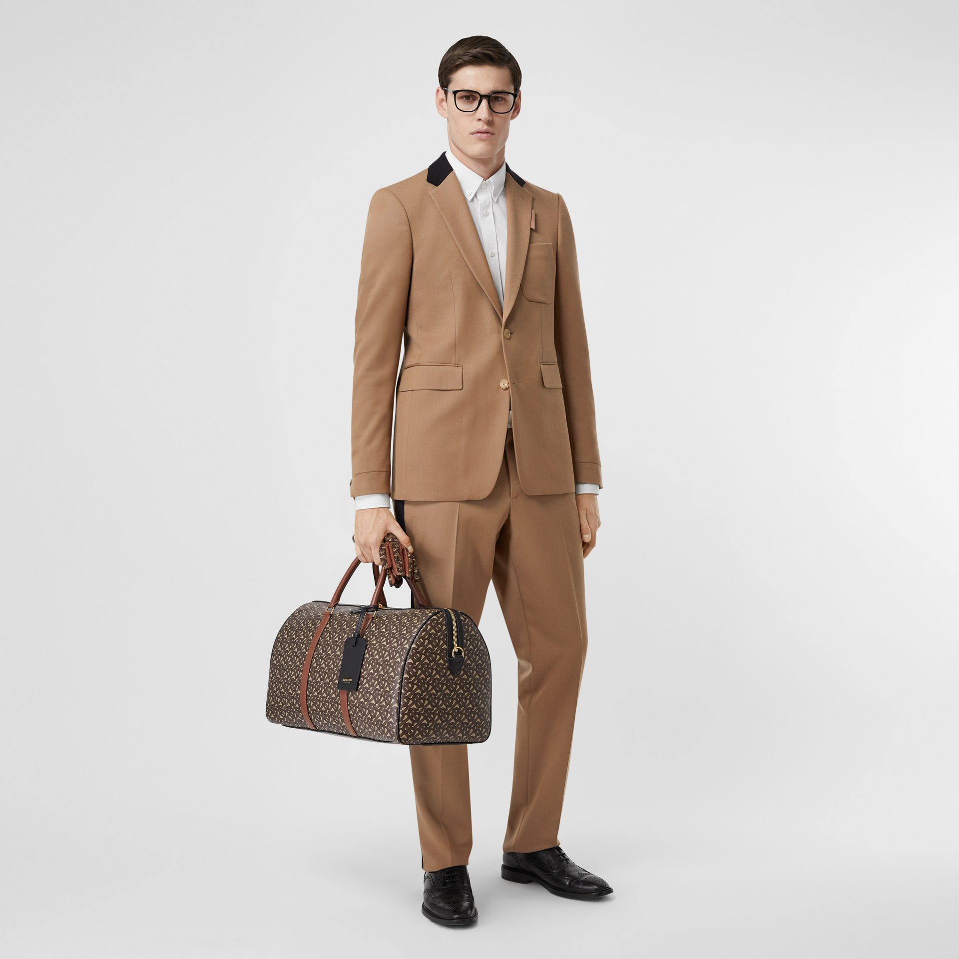 Classic Fit Two-tone Wool Tailored Jacket in Camel - Men | Burberry United Kingdom - gallery image 6
