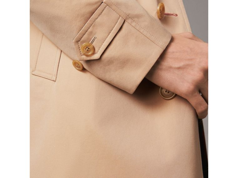Reversible Gabardine and Tartan Wool Car Coat in Honey/ Red - Men | Burberry Singapore - cell image 4
