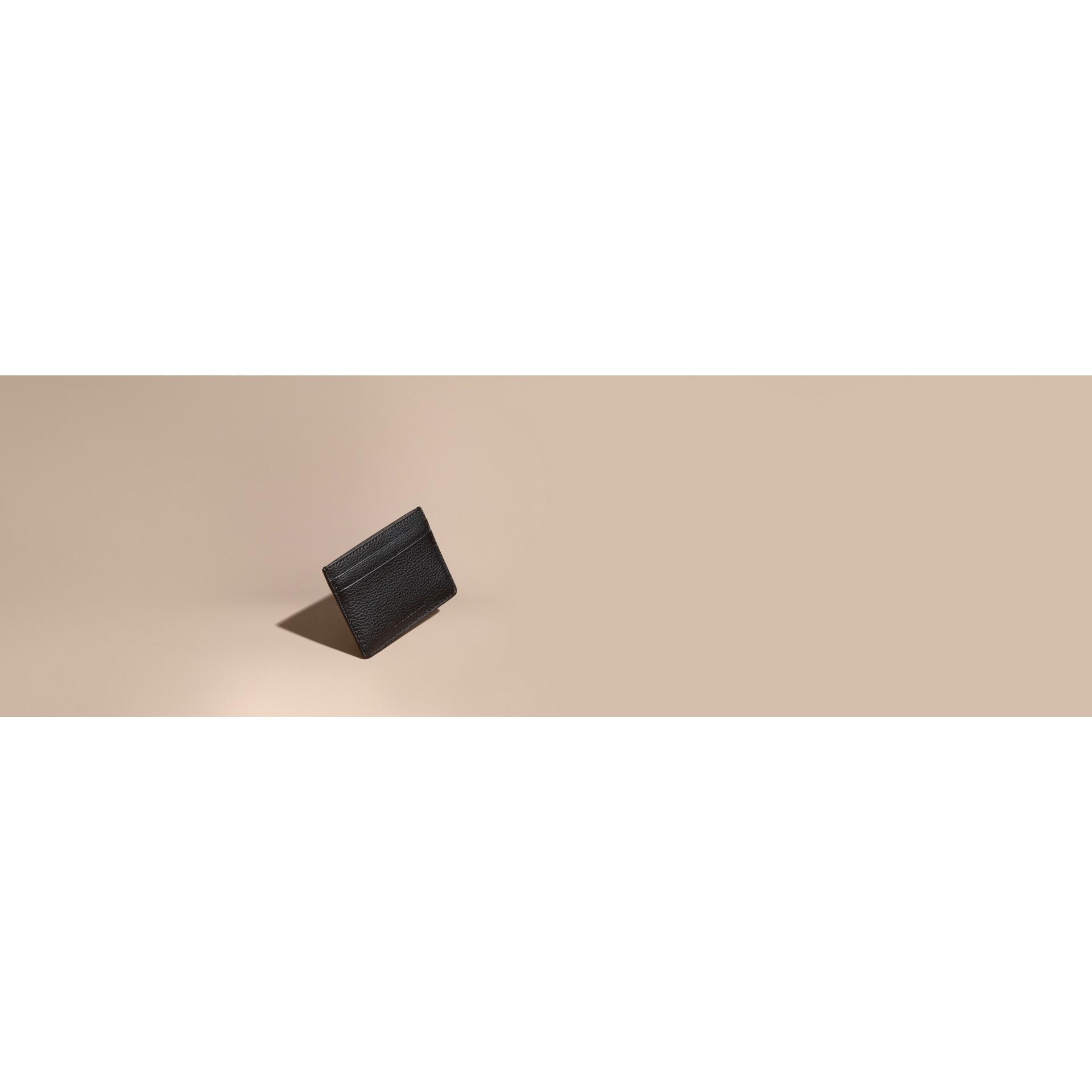 Черный Футляр для карт из зернистой кожи London Черный - изображение 8