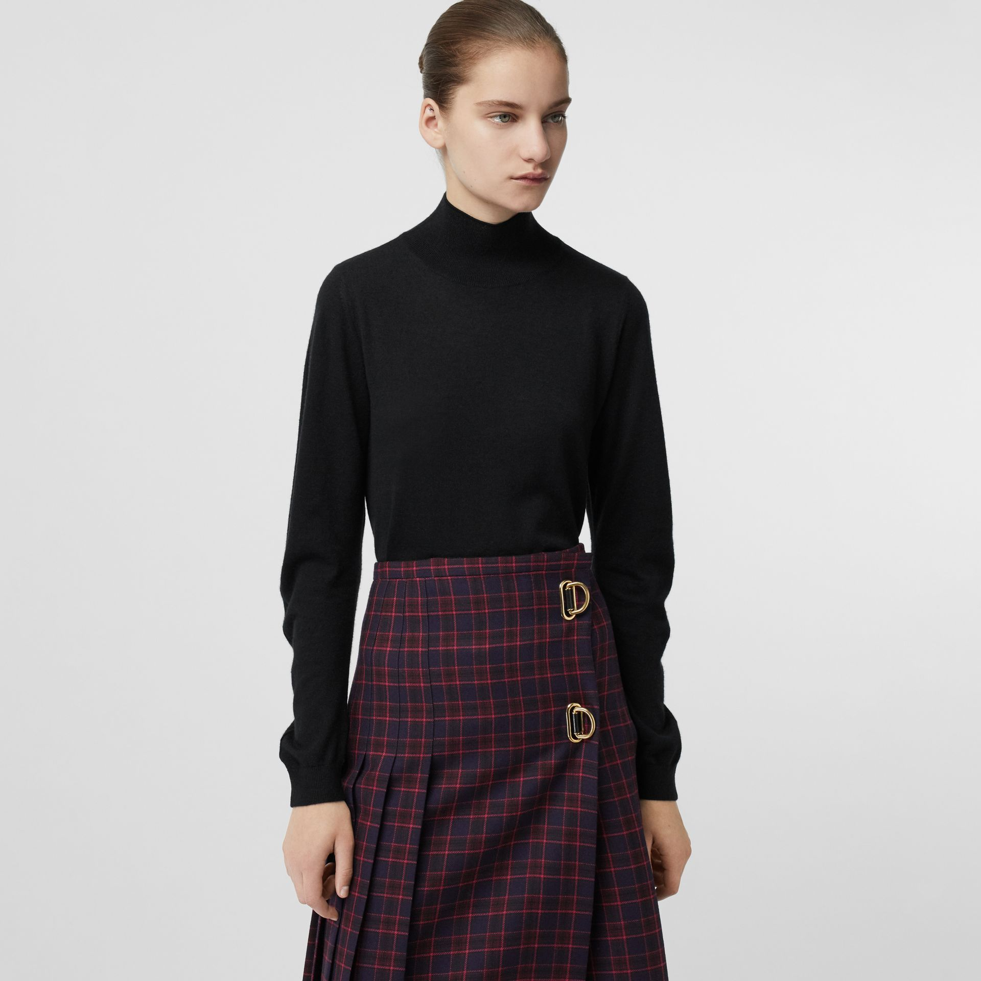 Cashmere Turtleneck Sweater in Black - Women | Burberry Australia - gallery image 4