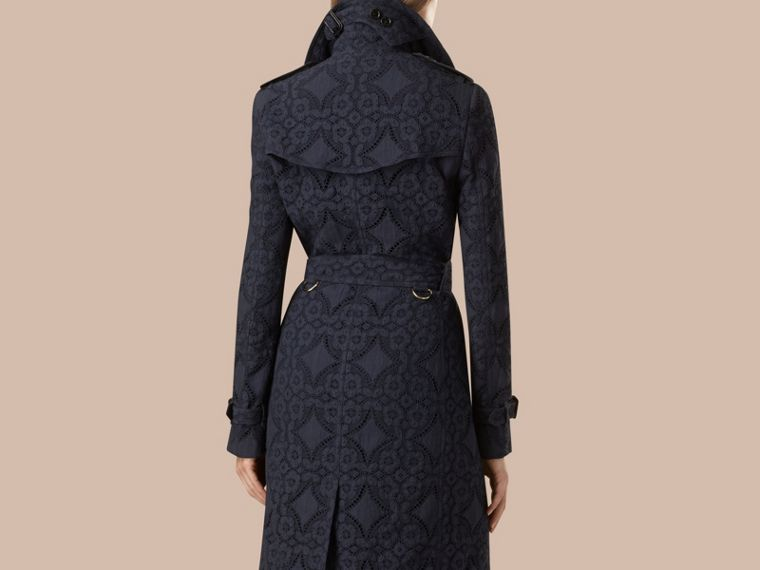 Ink Gabardine Lace Trench Coat Ink - cell image 1