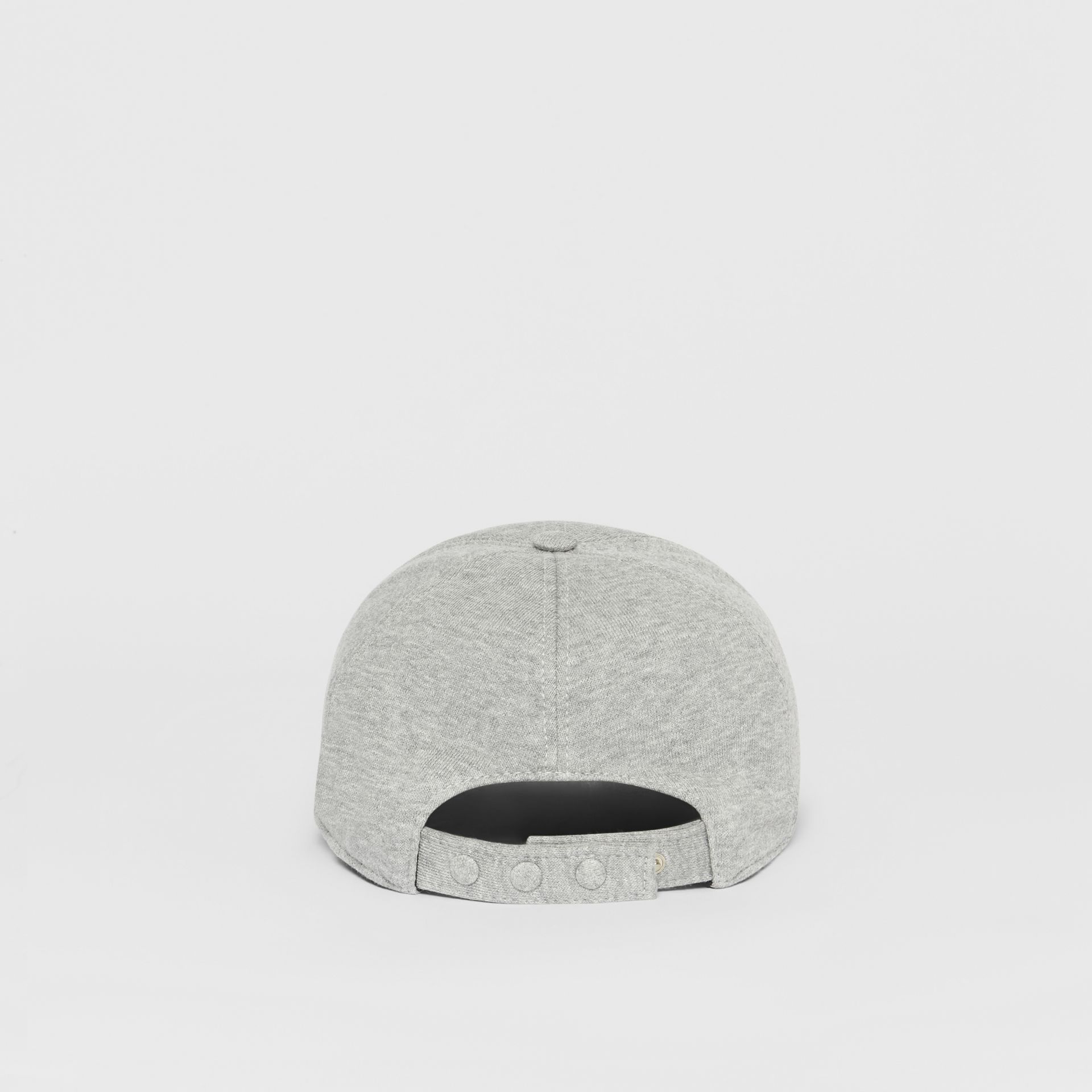 Monogram Motif Baseball Cap in Light Grey Melange | Burberry - gallery image 6