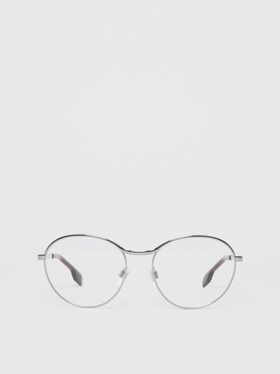 Round Optical Frames in Gunmetal Grey
