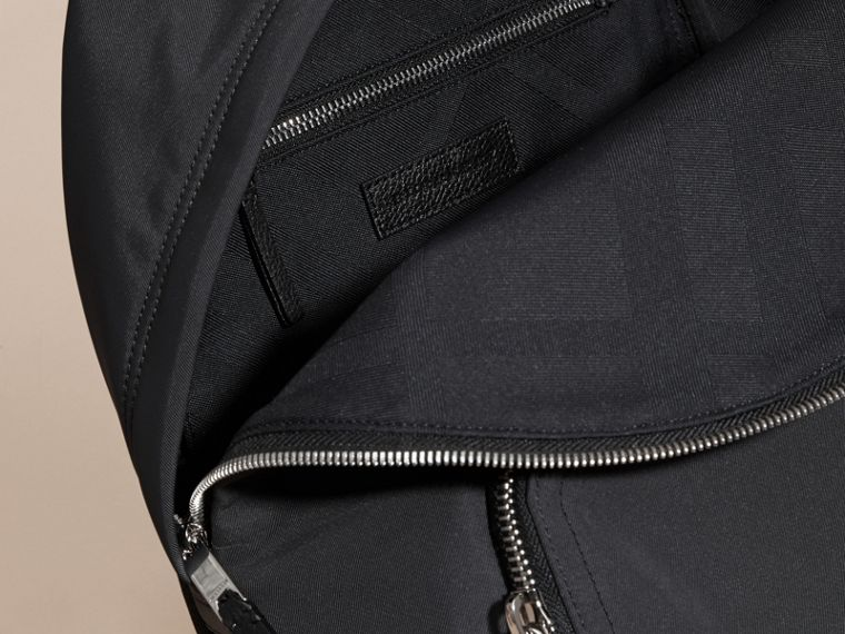 Leather Trim Technical Backpack in Black - cell image 4