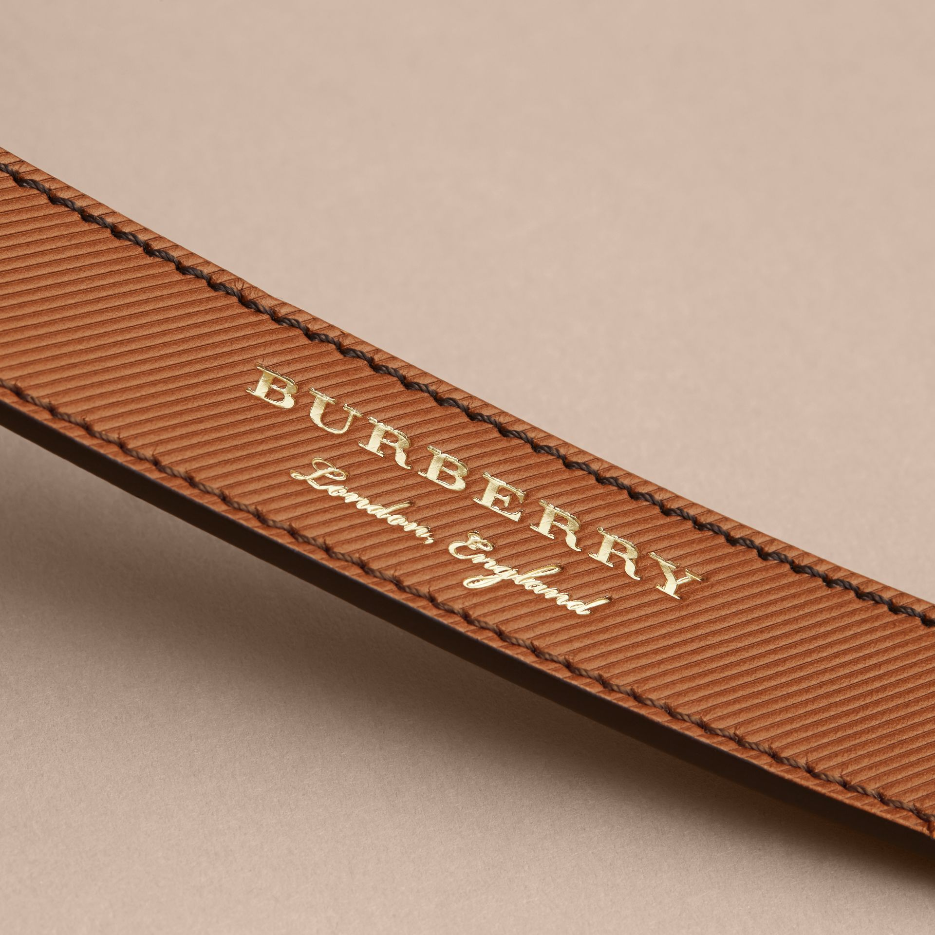 Trench Leather Belt in Tan - Men | Burberry United Kingdom - gallery image 2