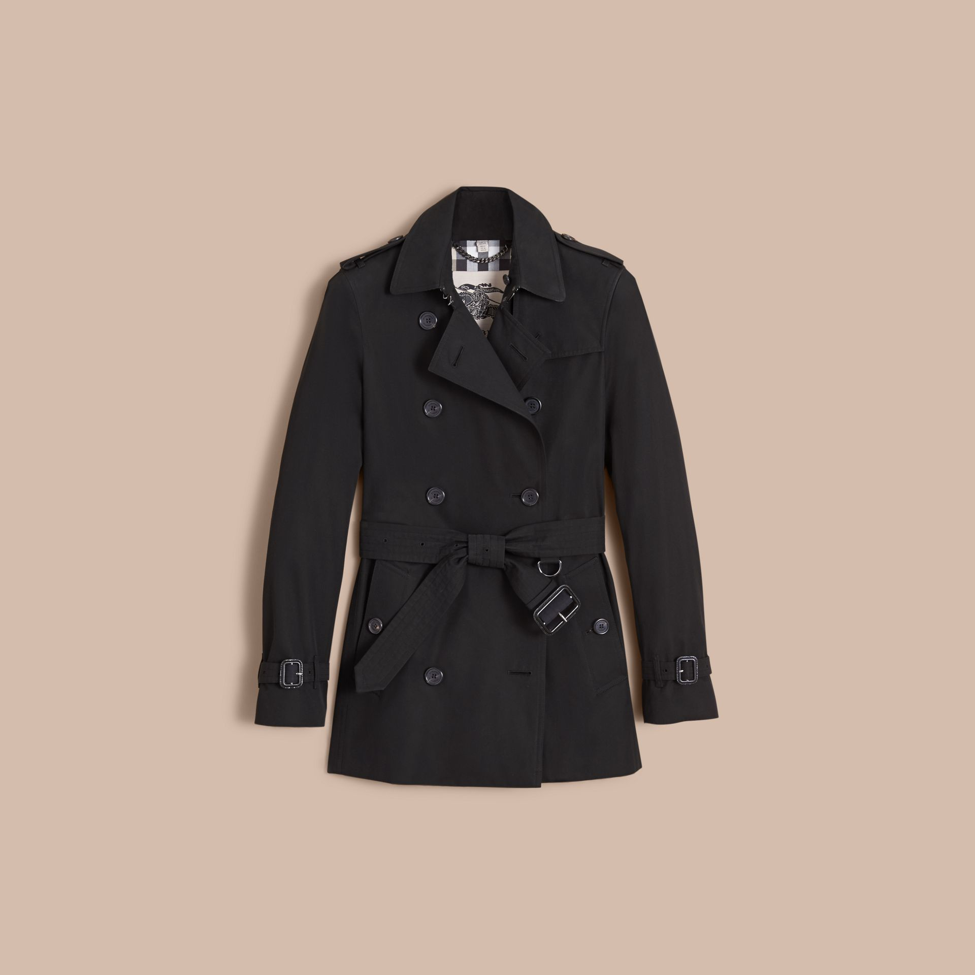 The Kensington – Short Heritage Trench Coat Black - gallery image 4