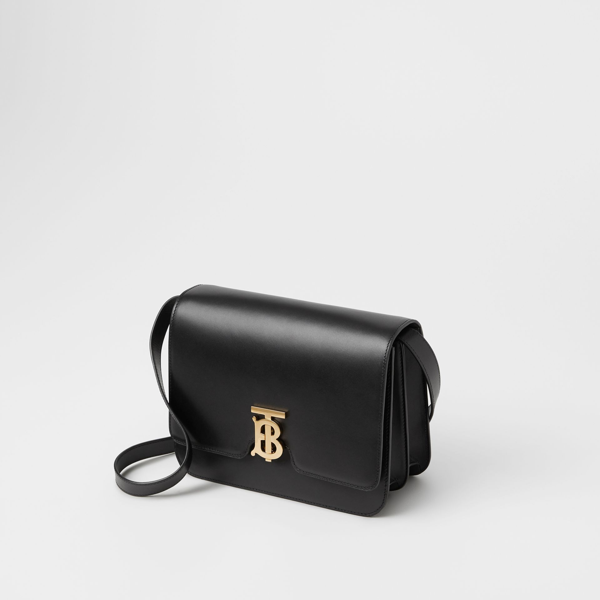 Leather TB Bag in Black - Women | Burberry - gallery image 4