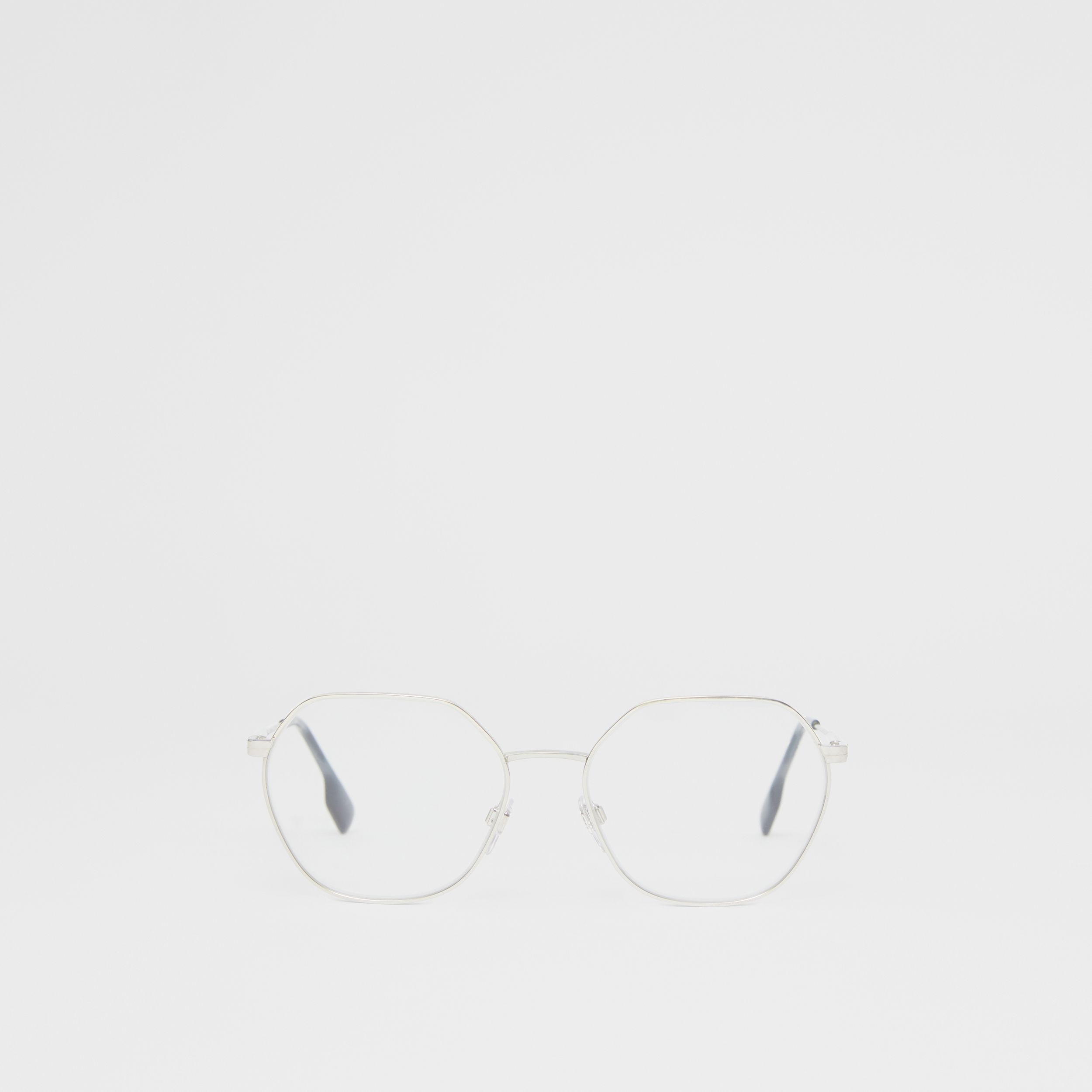 Geometric Optical Frames in Grey Tortoiseshell - Women | Burberry - 1