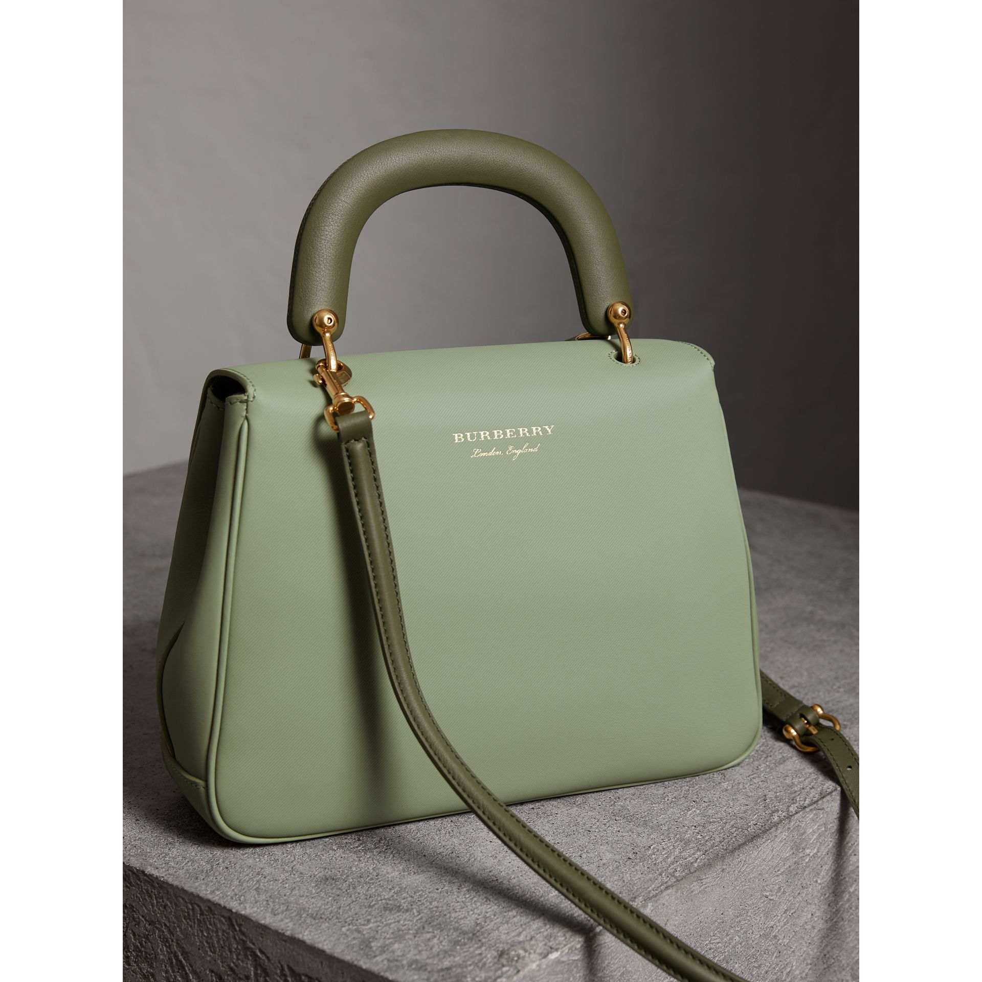 The Medium DK88 Top Handle Bag in Celadon Green - Women | Burberry United States - gallery image 4
