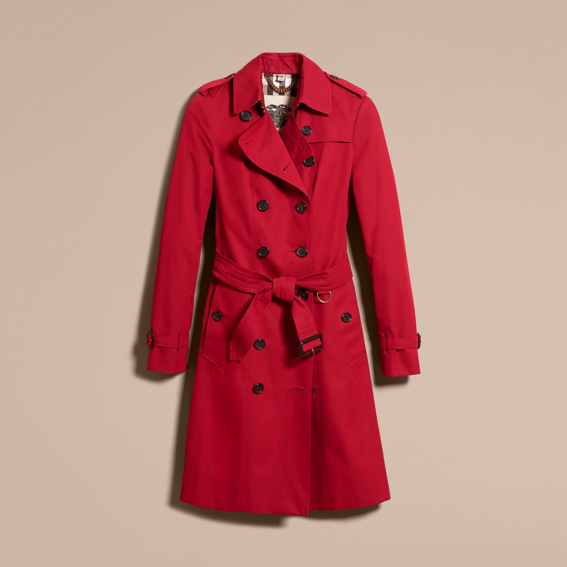 Parade red The Sandringham  – Long Heritage Trench Coat Parade Red - gallery image 4
